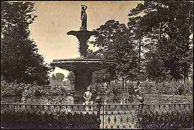Fountain in Savannah, 1865, by George Barnard.