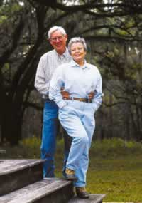 Leon Neel and his wife Julie built a house in the Red Hills over 30 years ago. Photo by Richard T. Bryant. Email richard_t_bryant@mindspring.com