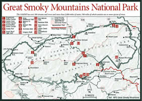 Camping In Tennessee Map.Sherpa Guides Tennessee The Tennessee Mountains